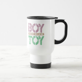 BOY TOY For Hire - Available For Sugar Daddy, Plum Travel Mug