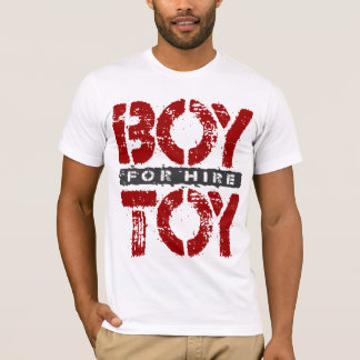 BOY TOY For Hire - Available For Sugar Daddy, Red T-Shirt
