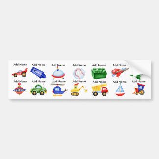 Boy Toys Waterproof Sippy Cup Labels