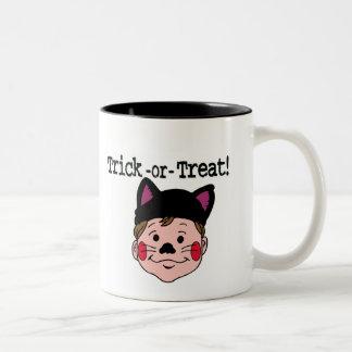 Boy Trick-or-Treat Two-Tone Coffee Mug