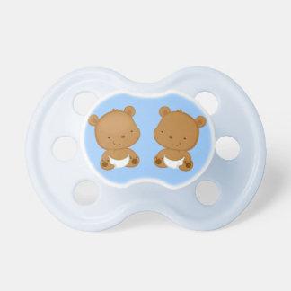 Boy Twins Baby Bear Baby Pacifier