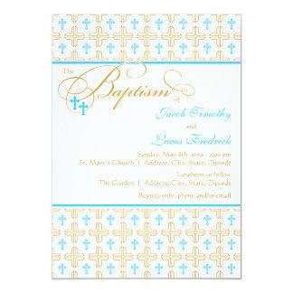 boy baptism invitations  announcements  zazzle, Baptism invites