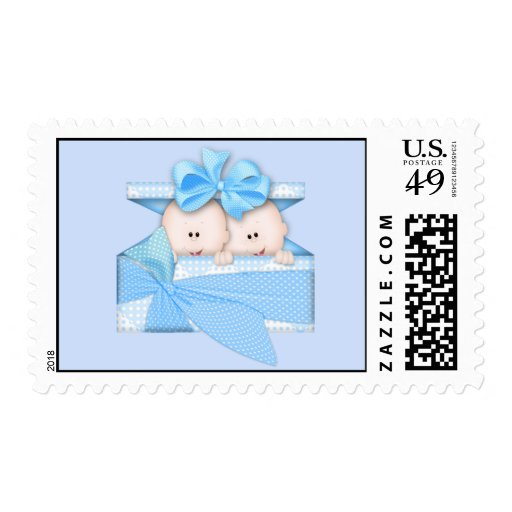 Boy Twins Postage Stamps