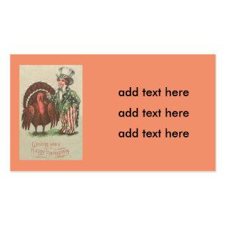 Boy Uncle Sam Thanksgiving Turkey Business Card
