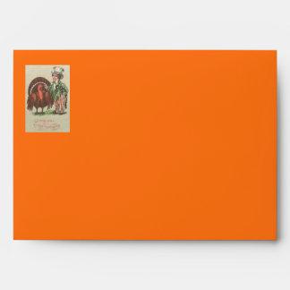Boy Uncle Sam Thanksgiving Turkey Envelope
