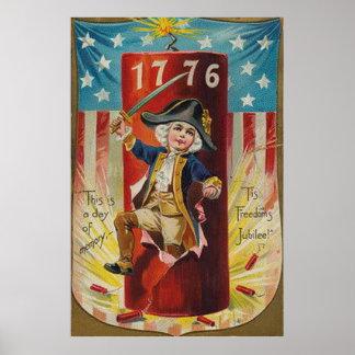 Boy Uniform Fireworks Firecracker Explosion Poster
