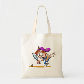 Boy Using A Magnifying Glass Tote Bag