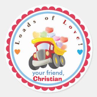 Boy Valentine's Day Stickers - Children Valentine