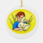 boy w rabbit yellow oval.png ornaments