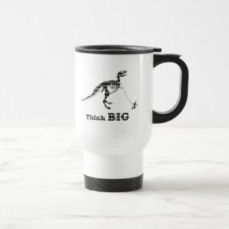 Boy Walking A Tyrannosaurus Rex ~ Think Big Travel Mug
