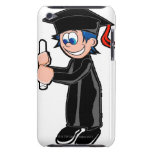 Boy wearing a graduation gown barely there iPod cover