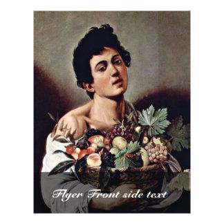 Boy With A Basket Of Fruit By Michelangelo Merisi Custom Flyer