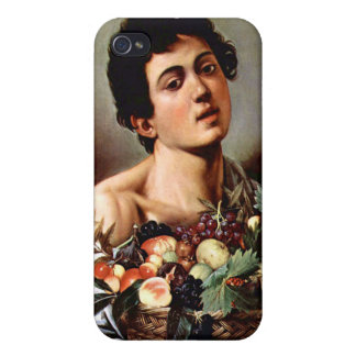 Boy with a Basket of Fruit, Caravaggio iPhone 4/4S Cases