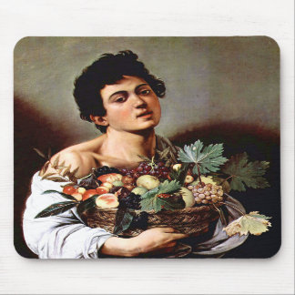 Boy with a Basket of Fruit, Caravaggio Mousepads