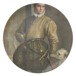 Boy with a Greyhound by Paolo Veronese Dinner Plate