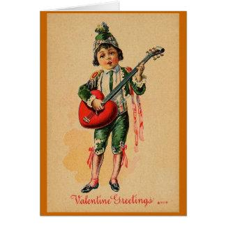 Boy with a Love Guitar Card