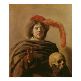 Boy With A Skull Poster