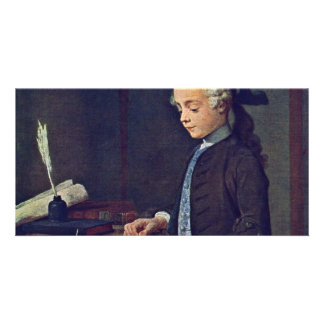 Boy With A Top By Chardin Jean-Baptiste Siméon (Be Photo Greeting Card