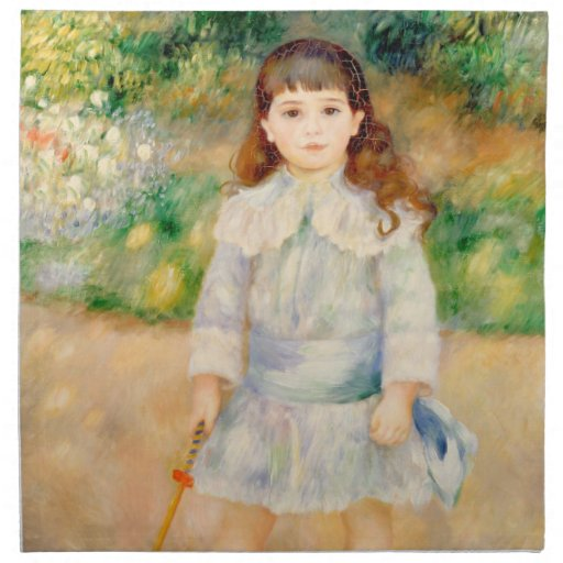 Boy with a Whip, Auguste Renoir Printed Napkins