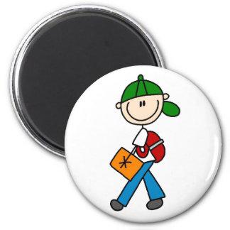 Boy With Backpack Magnet Fridge Magnets