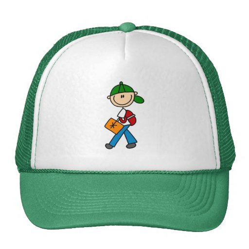 Boy With Backpack Mesh Hats