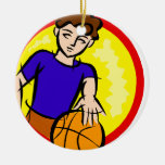 Boy with Ball Christmas Ornaments