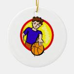 Boy with Ball Christmas Tree Ornament