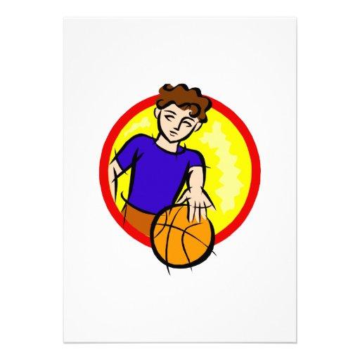 Boy with Ball Custom Announcement