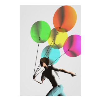 Boy with Balloons poster