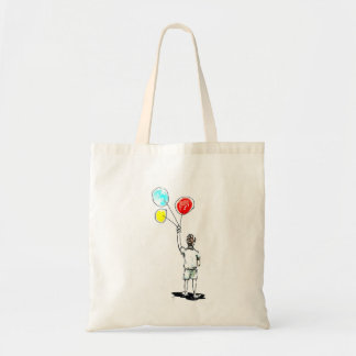 Boy with Balloons Tote Bag