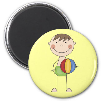 Boy with Beach Ball Tshirts and Gifts 2 Inch Round Magnet