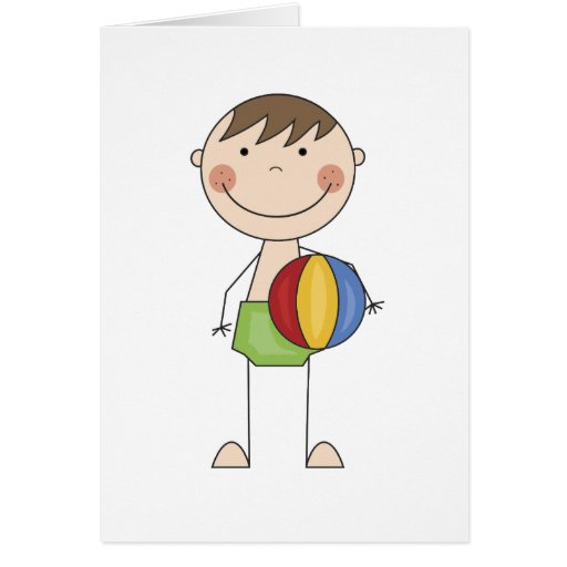 Boy with Beach Ball Tshirts and Gifts Cards