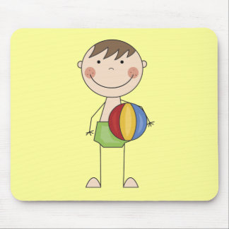 Boy with Beach Ball Tshirts and Gifts Mouse Pad