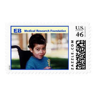 Boy with bubbles, EB , Medical Research Foundation Stamps