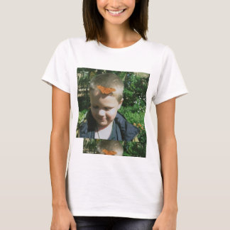 Boy with Butterfly on Head T-Shirt
