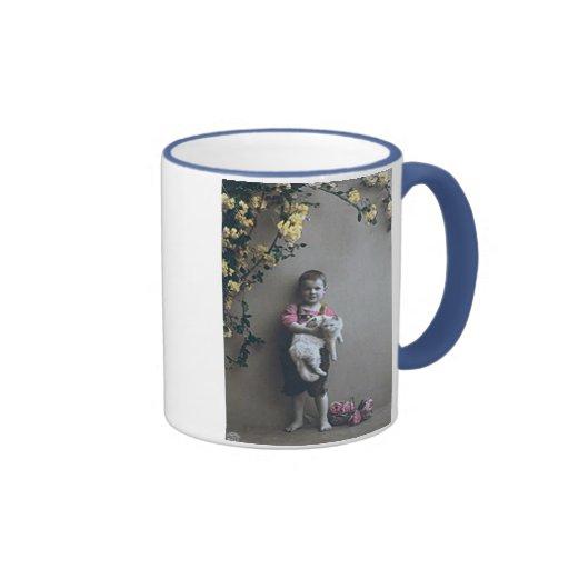 Boy with cat Mug