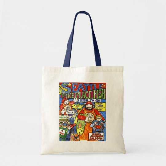 Boy with Crab Tote Bag