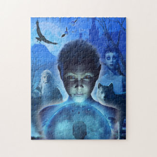 Boy with Crystal Ball Reflection Puzzle