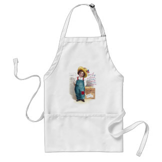 Boy With Fireworks for the Fourth Adult Apron