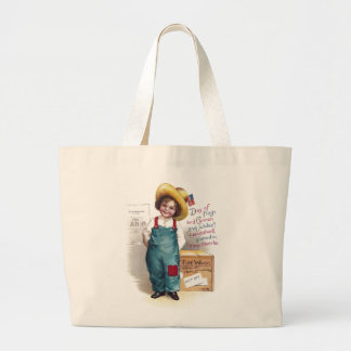 Boy With Fireworks for the Fourth Large Tote Bag