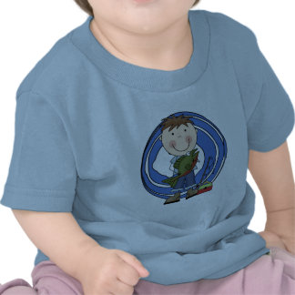 Boy With Fish Tshirts and Gifts