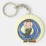 Boy With Fish Tshirts and Gifts Key Chains