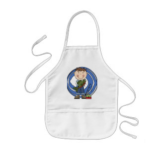 Boy With Fish Tshirts and Gifts Kids' Apron