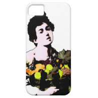 Boy with Fruit Basket  (Add Background Color) iPhone 5 Covers