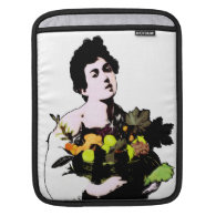 Boy with Fruit Basket  (Add Background Color) Sleeves For iPads