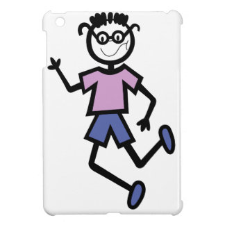 Boy with glasses case for the iPad mini