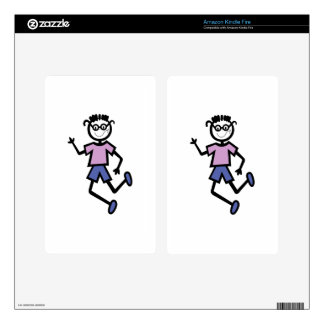 Boy with glasses kindle fire skin