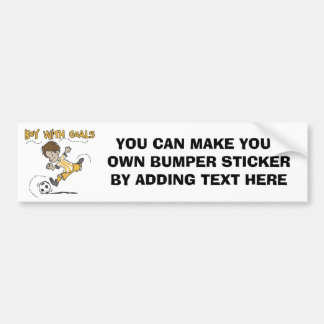 Boy With Goals T-shirts and Gifts Bumper Sticker
