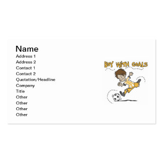 Boy With Goals T-shirts and Gifts Double-Sided Standard Business Cards (Pack Of 100)