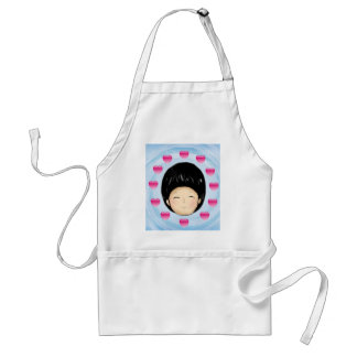 Boy with heart apron